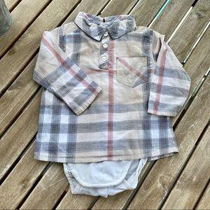 Shirt button down body 6 / 9 months Burberry